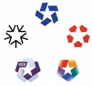 Хороший логотип может работать в простой форме